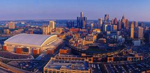 wayne county Detroit Skyline